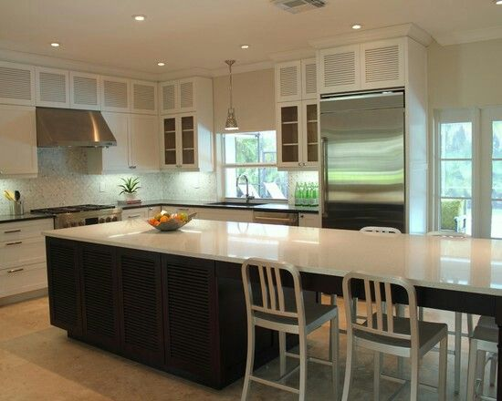 1000 images about kitchen island table on pinterest for Narrow kitchen island ideas
