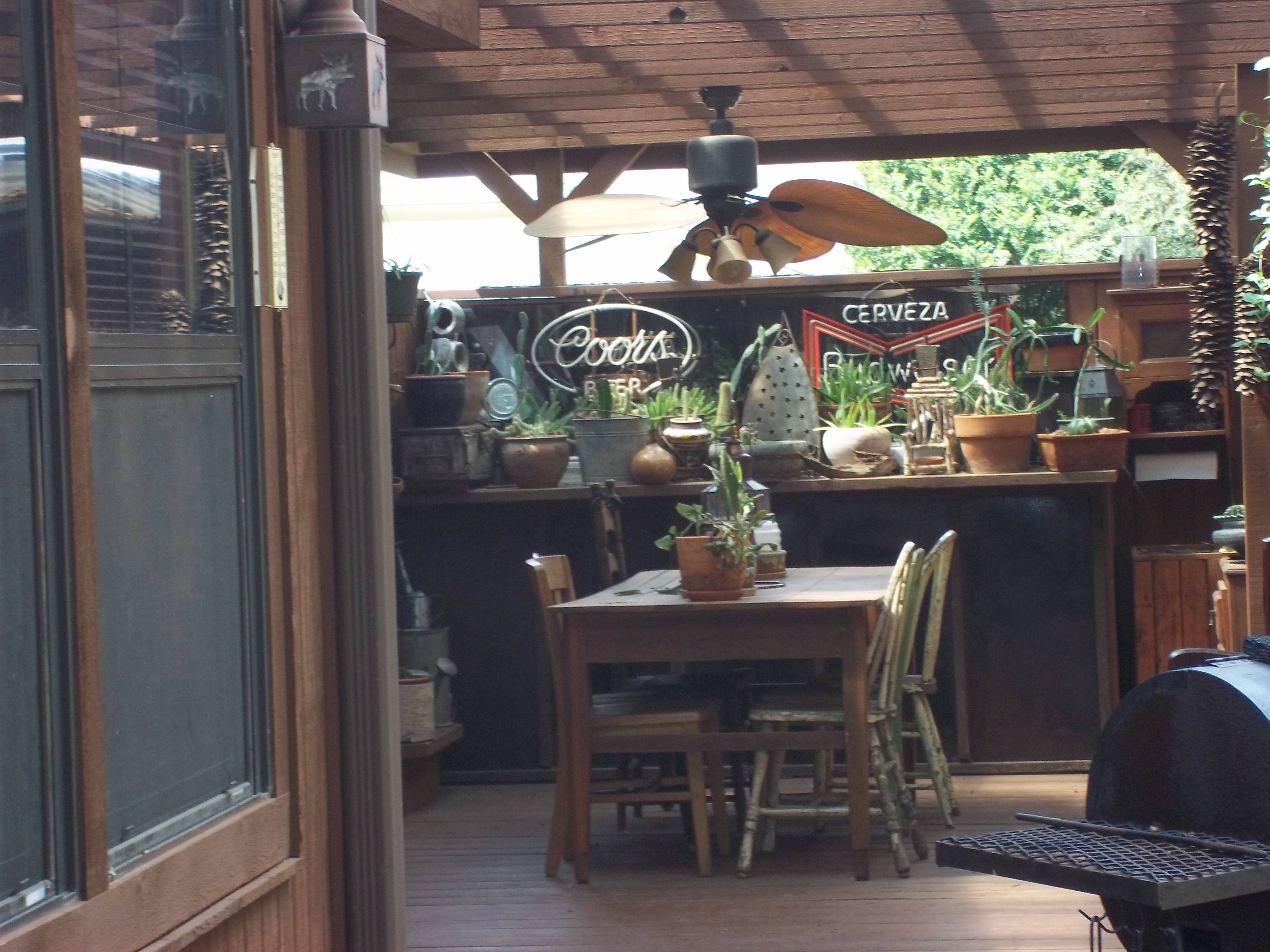 Rustic outdoor bar our home pinterest for Rustic log bar