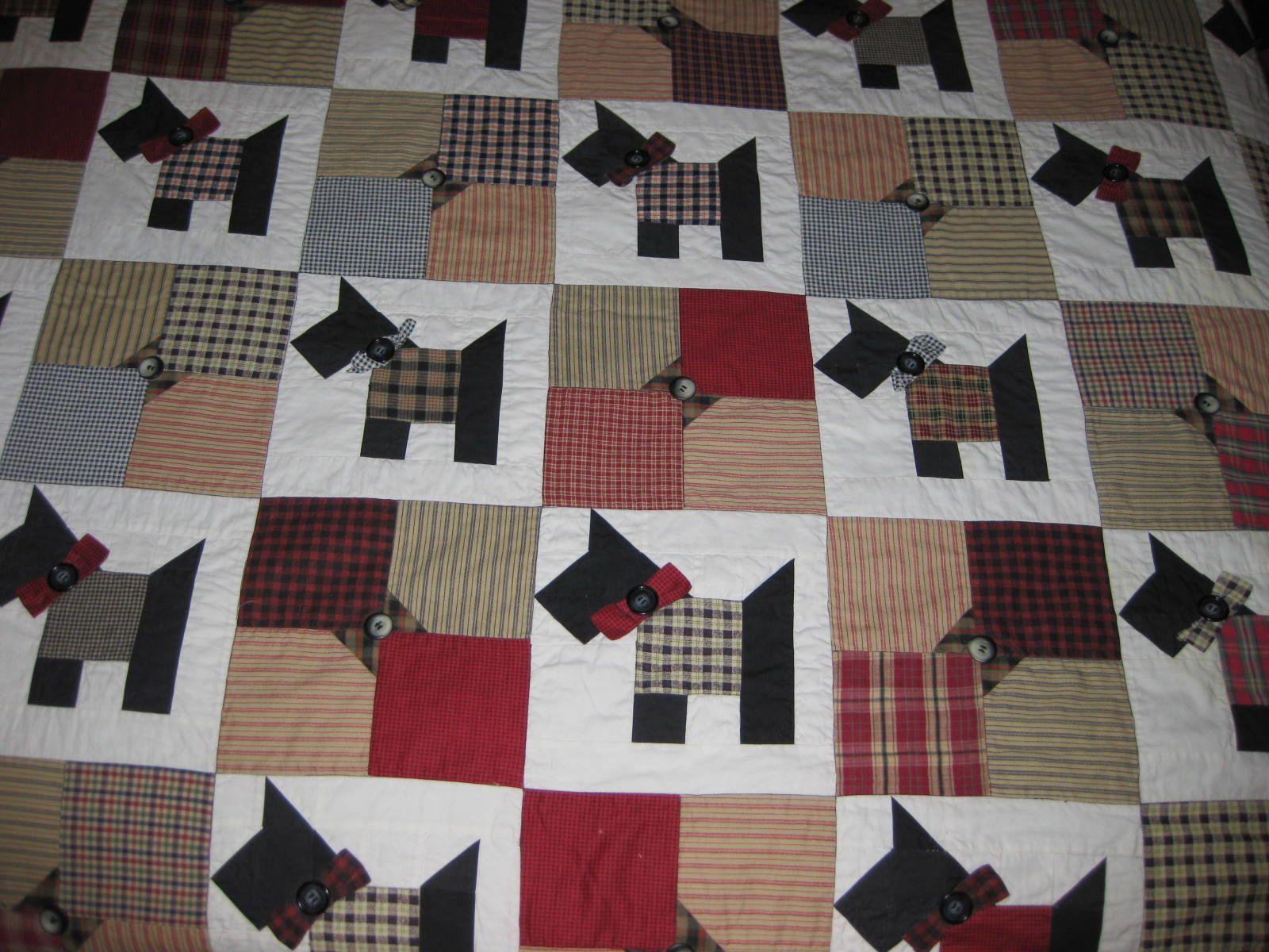Quilt Pattern For Scottie Dog : Scotty Dog Quilt Quilt Pinterest