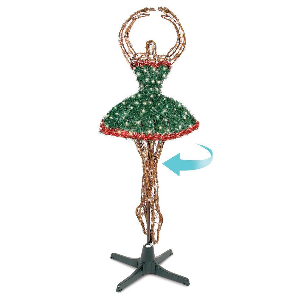 The ballerina tree hammacher schlemmer christmas for Ballerina tree decoration