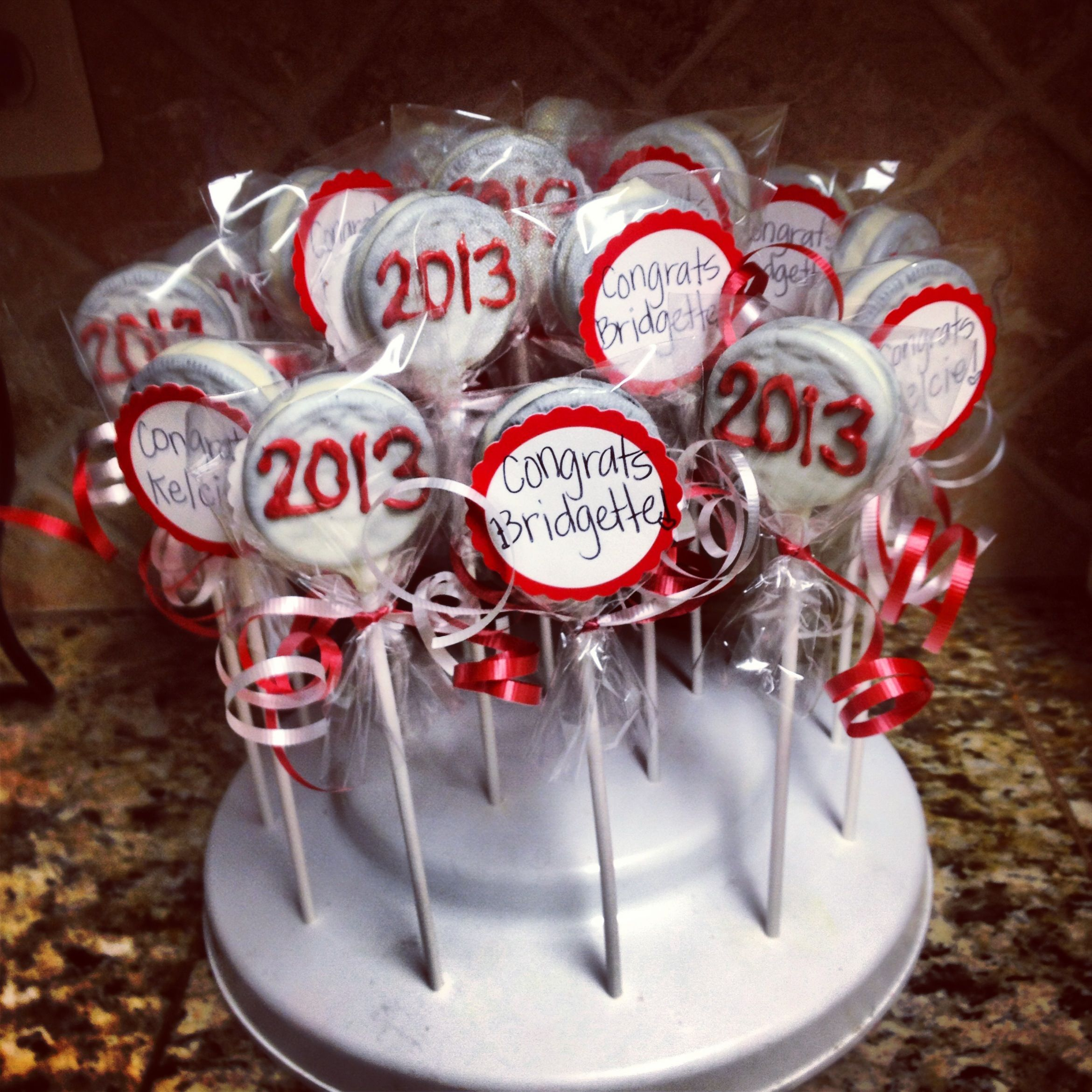 2013 Graduation Chocolate Dipped Oreos | Cake On A Stick | Pinterest