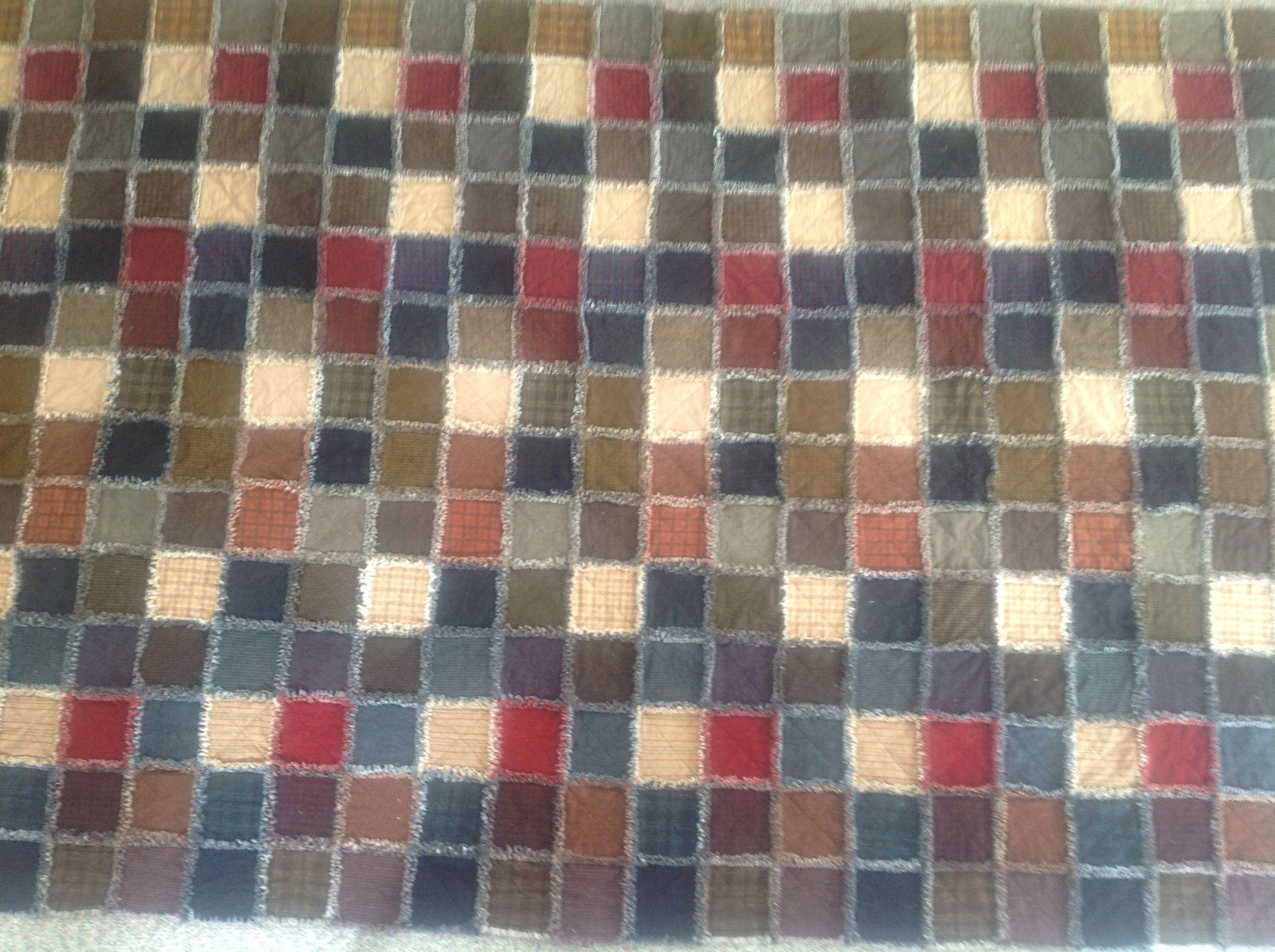 Rag Quilt Color Ideas : Flannel rag quilt. Lots of