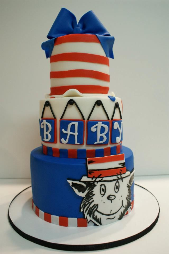 cat in the hat baby shower cake baby shower pinterest