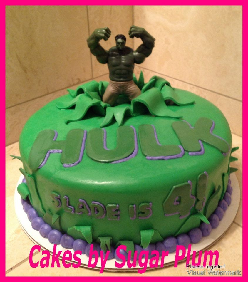 Hulk Cake ripped fondant!  Kids cake  Pinterest