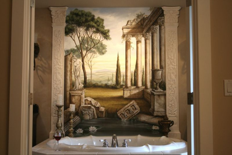 Roman style bath room ideas home decor past and present for Roman style home design