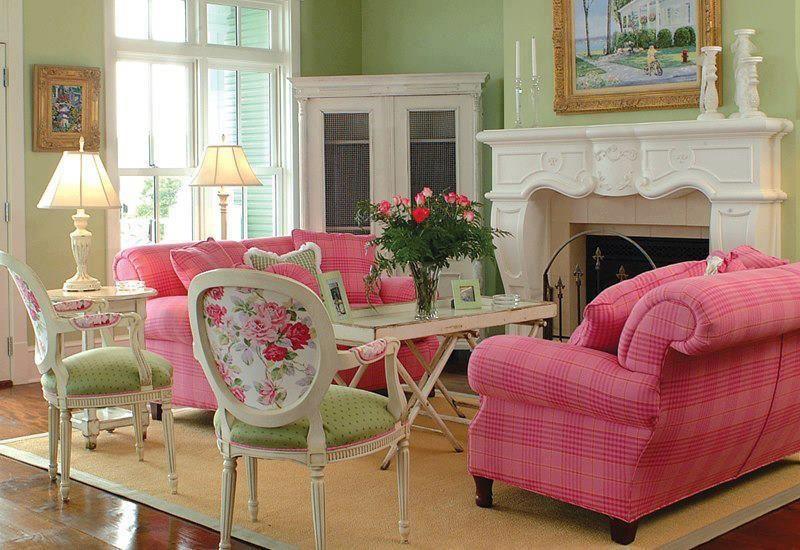 pretty pink living room cozy cottage pinterest. Black Bedroom Furniture Sets. Home Design Ideas