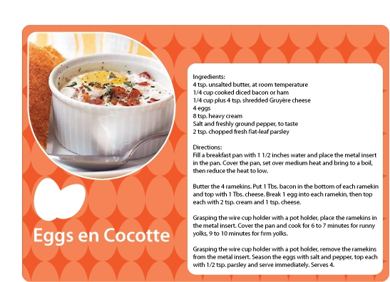 Eggs en Cocotte Recipe | Food for Thought | Pinterest