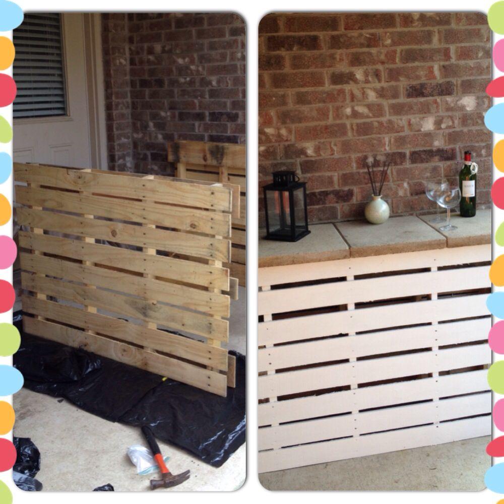 DIY patio bar out of pallets | Refurbished | Pinterest