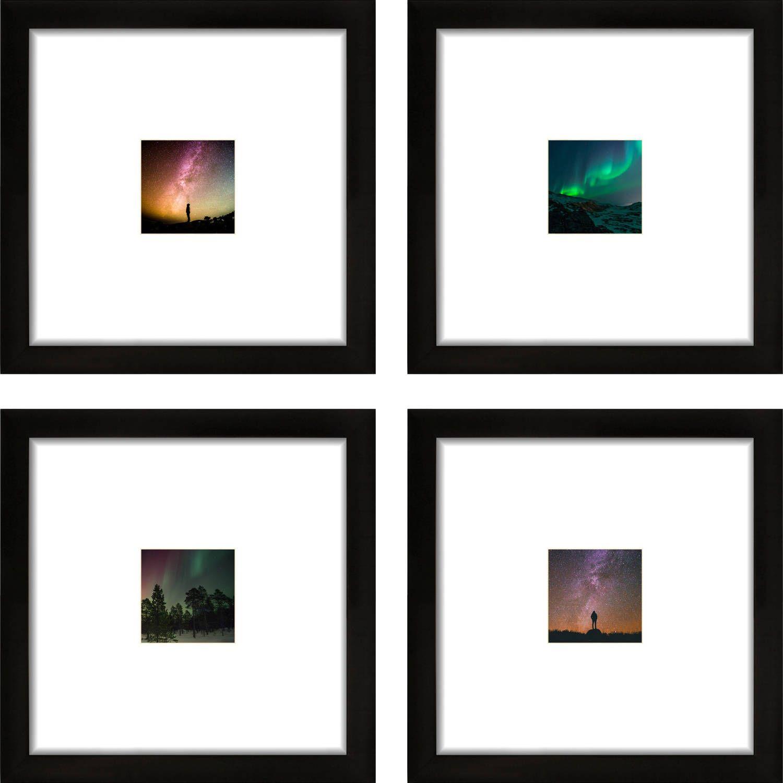 Wood Beaded 4x4 square photo frame
