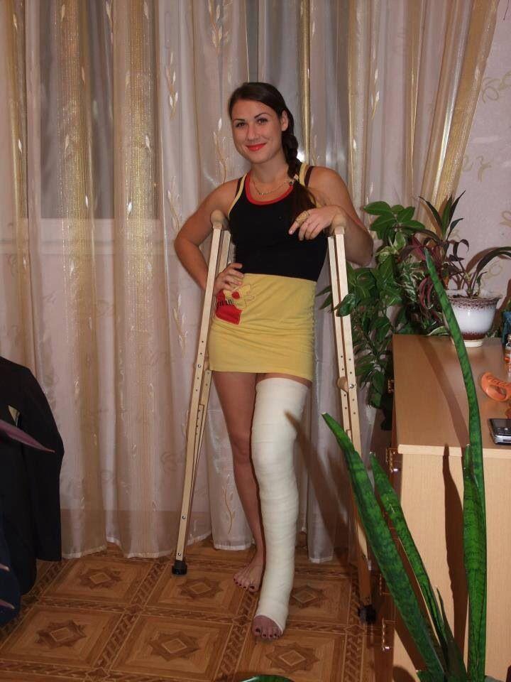 Hot girl slc crutching - 1 part 2