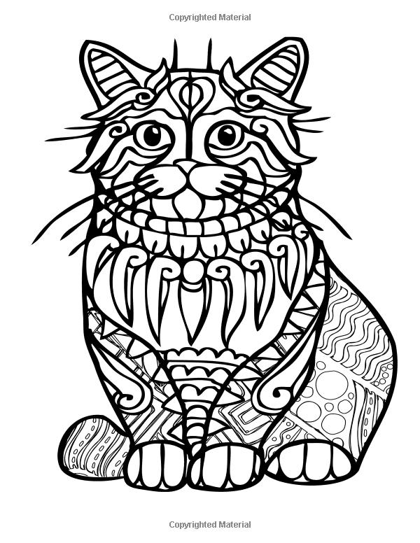 узорчатые животные раскраска печать