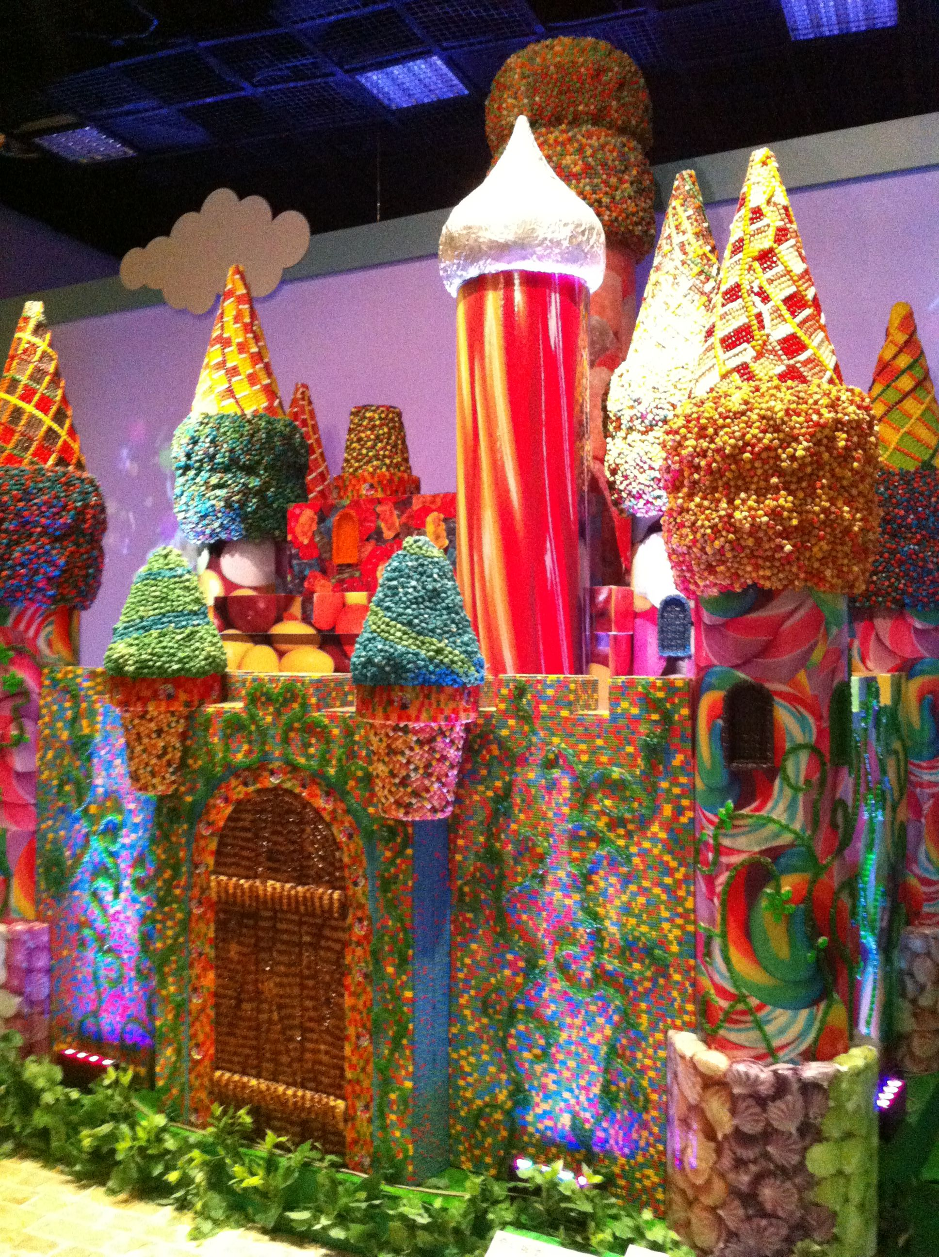 candy castle candyland pinterest