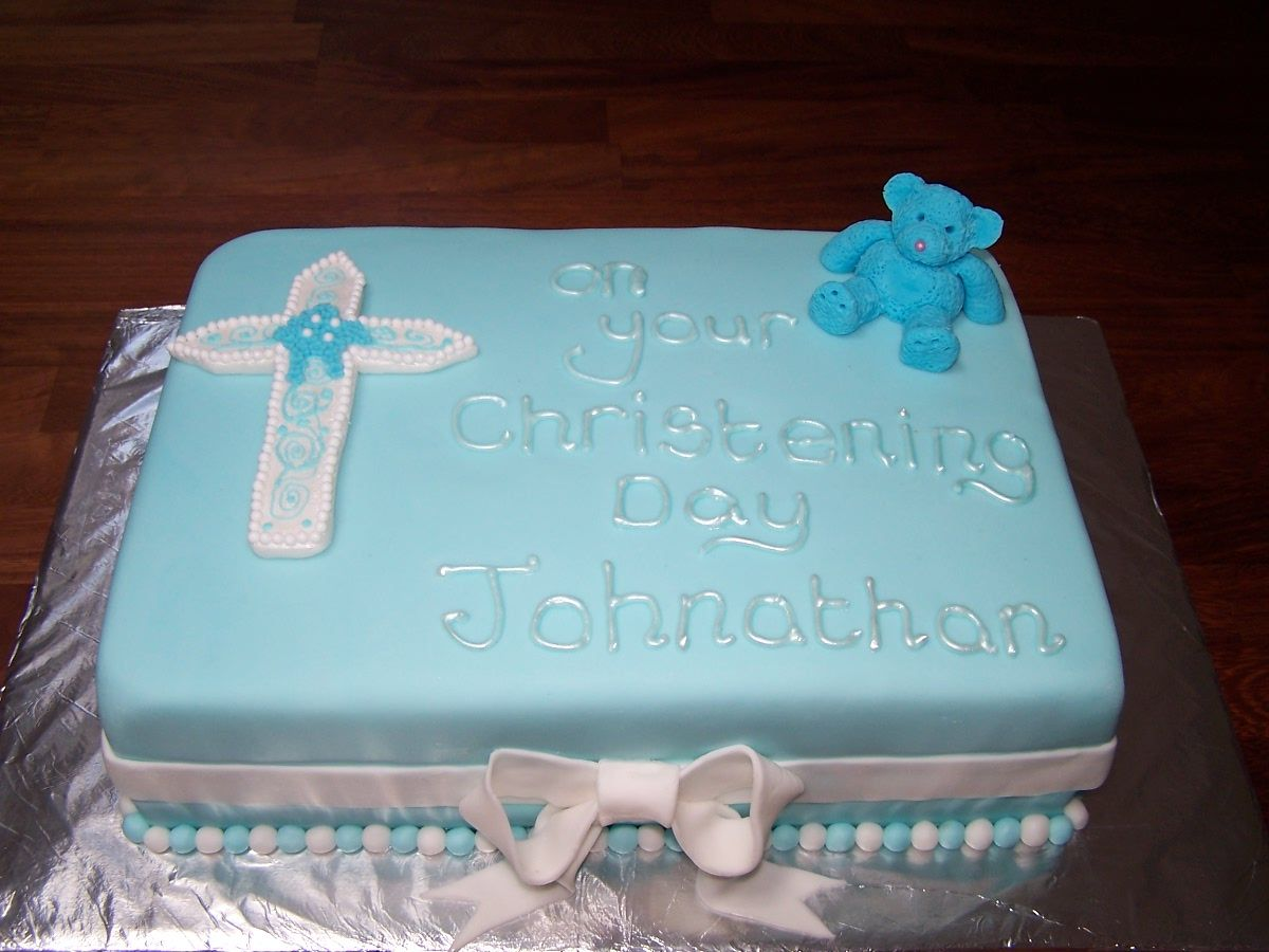 Baby boys christening cake cake design ideas pinterest - Baby baptism cake ideas ...