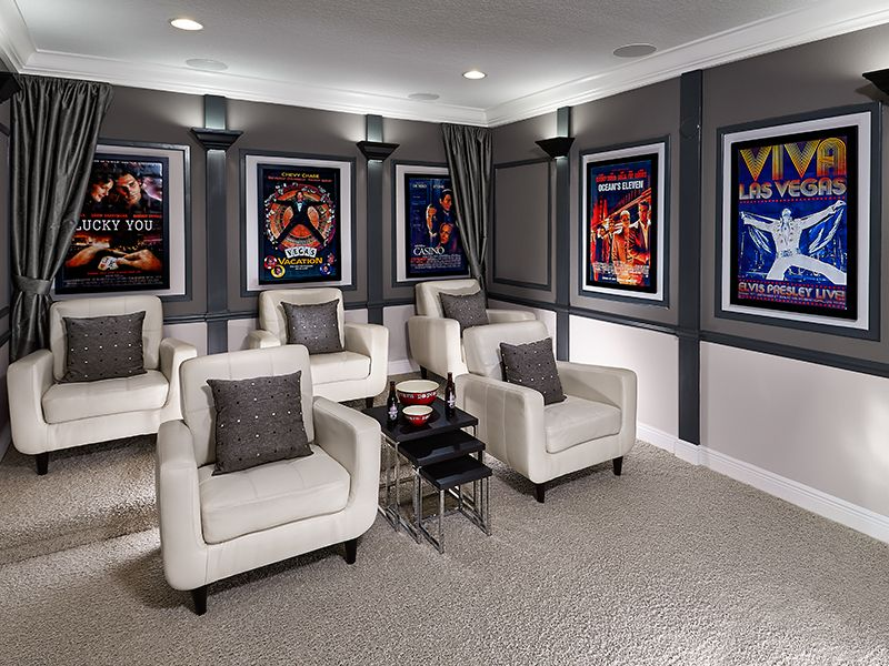 garage theater ideas - Meritage Homes Media Love Decor Ideas
