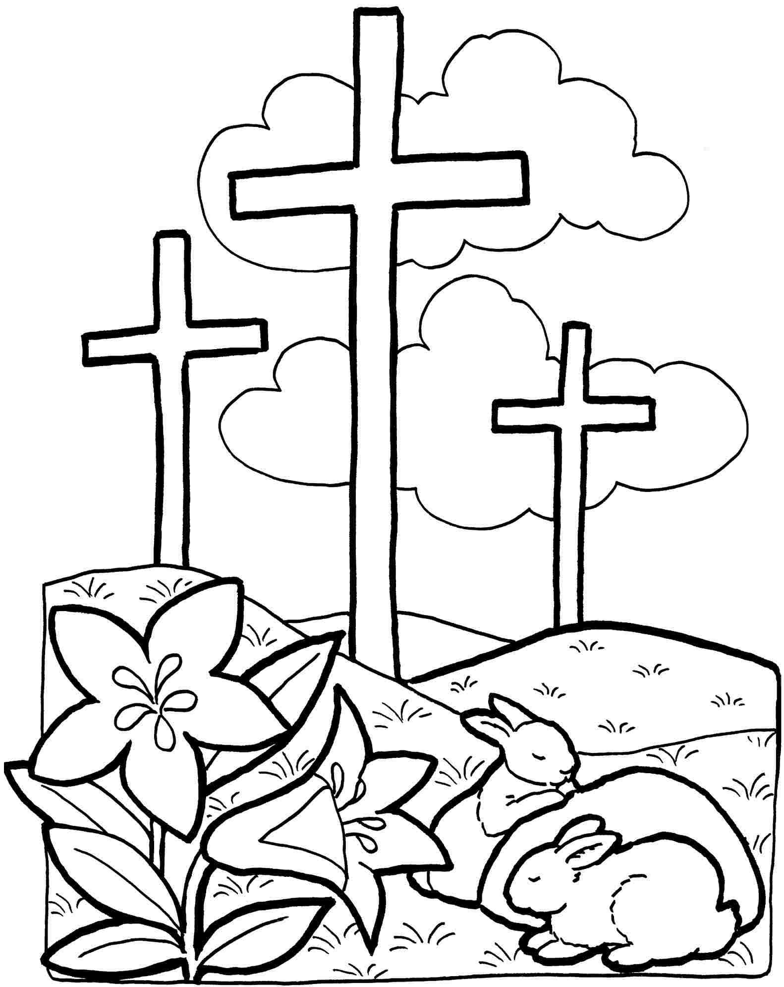 free coloring pages easter christian - photo#4