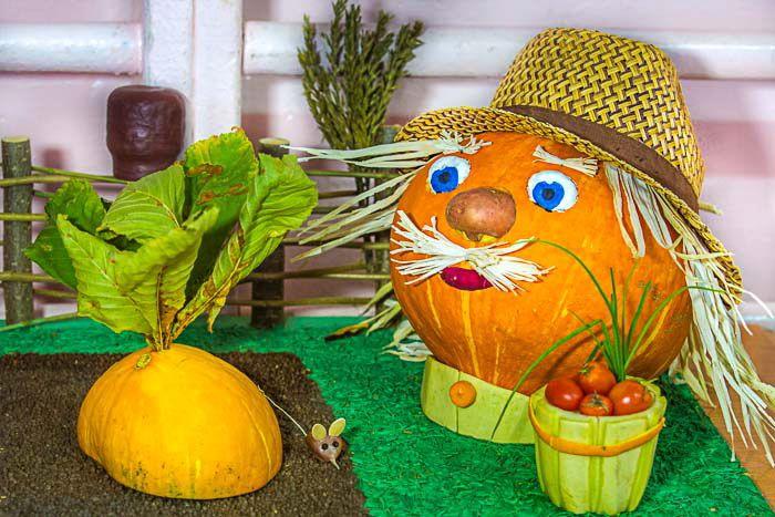 Поделки из природного материала фруктов и овощей