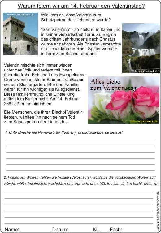 Valentinstag-Geschichte-Karte-AB. | Christlicher Inhalt ...