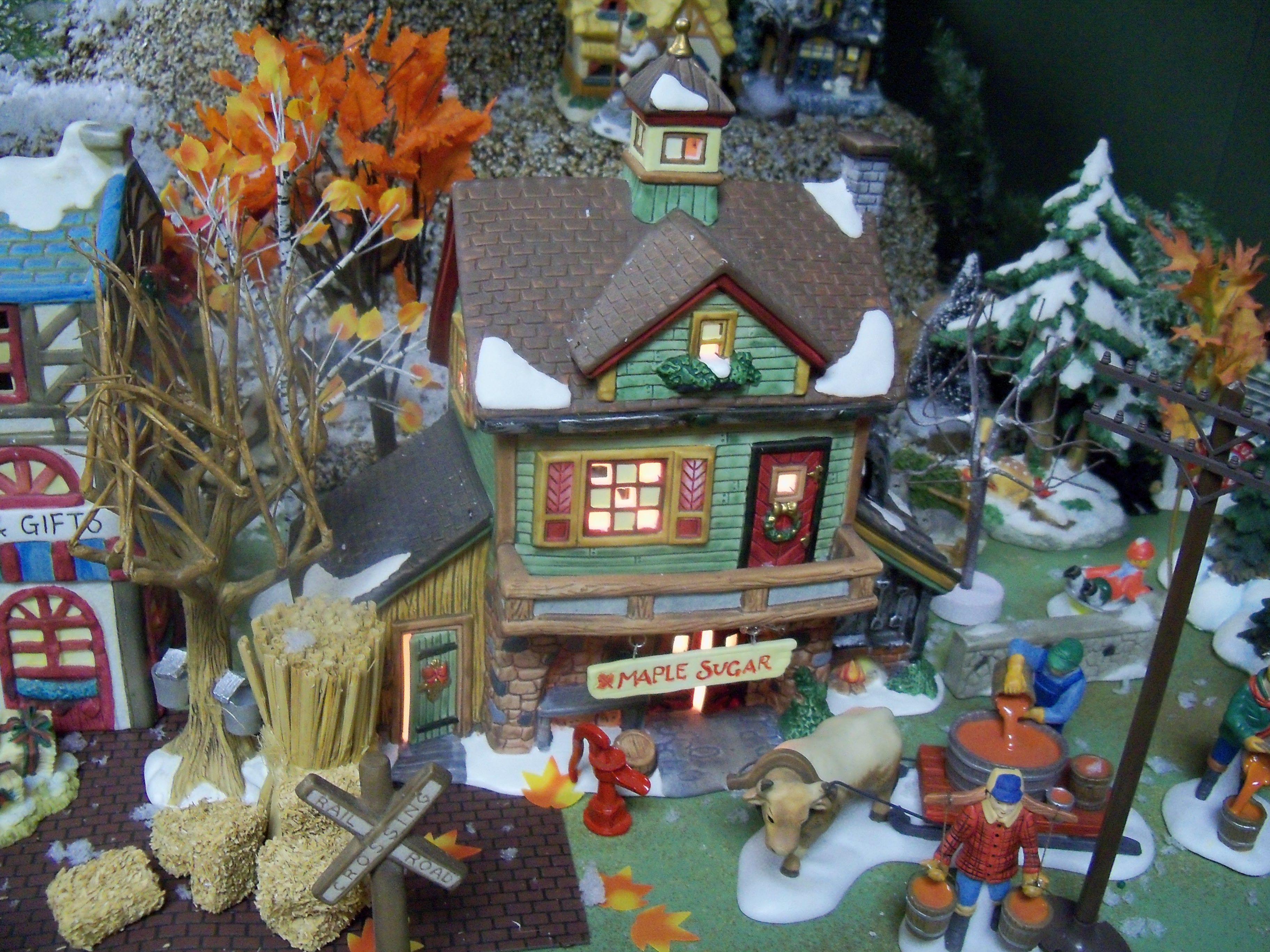 Scene from my Christmas village | My Christmas Village | Pinterest