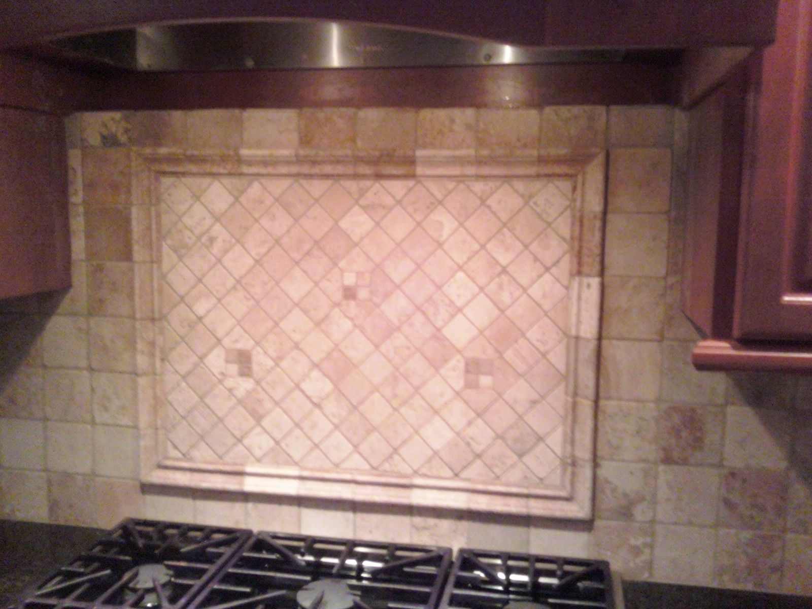 tumbled marble kitchen backsplash for the home pinterest
