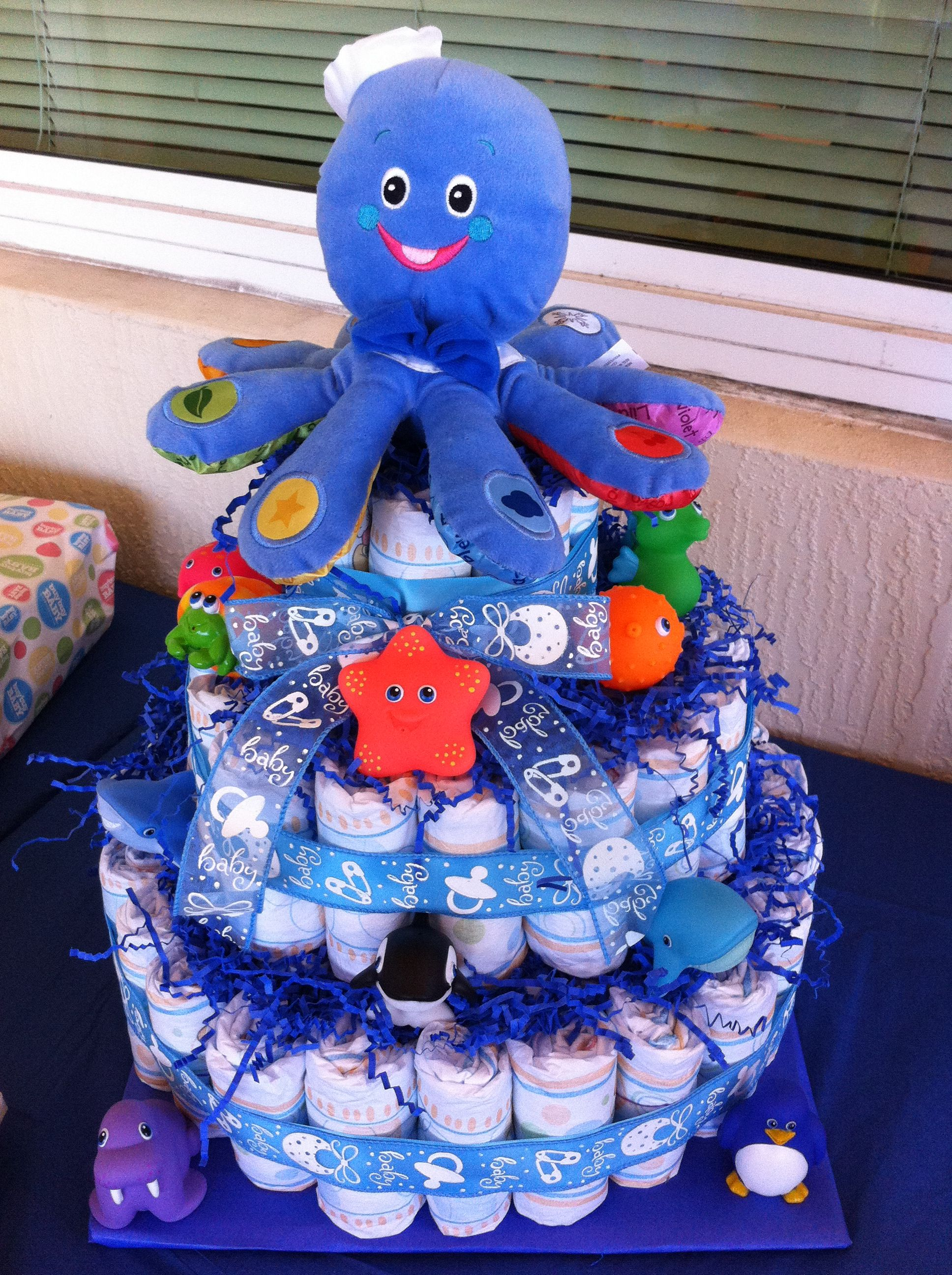 diaper cake for boy baby shower craft ideas pinterest