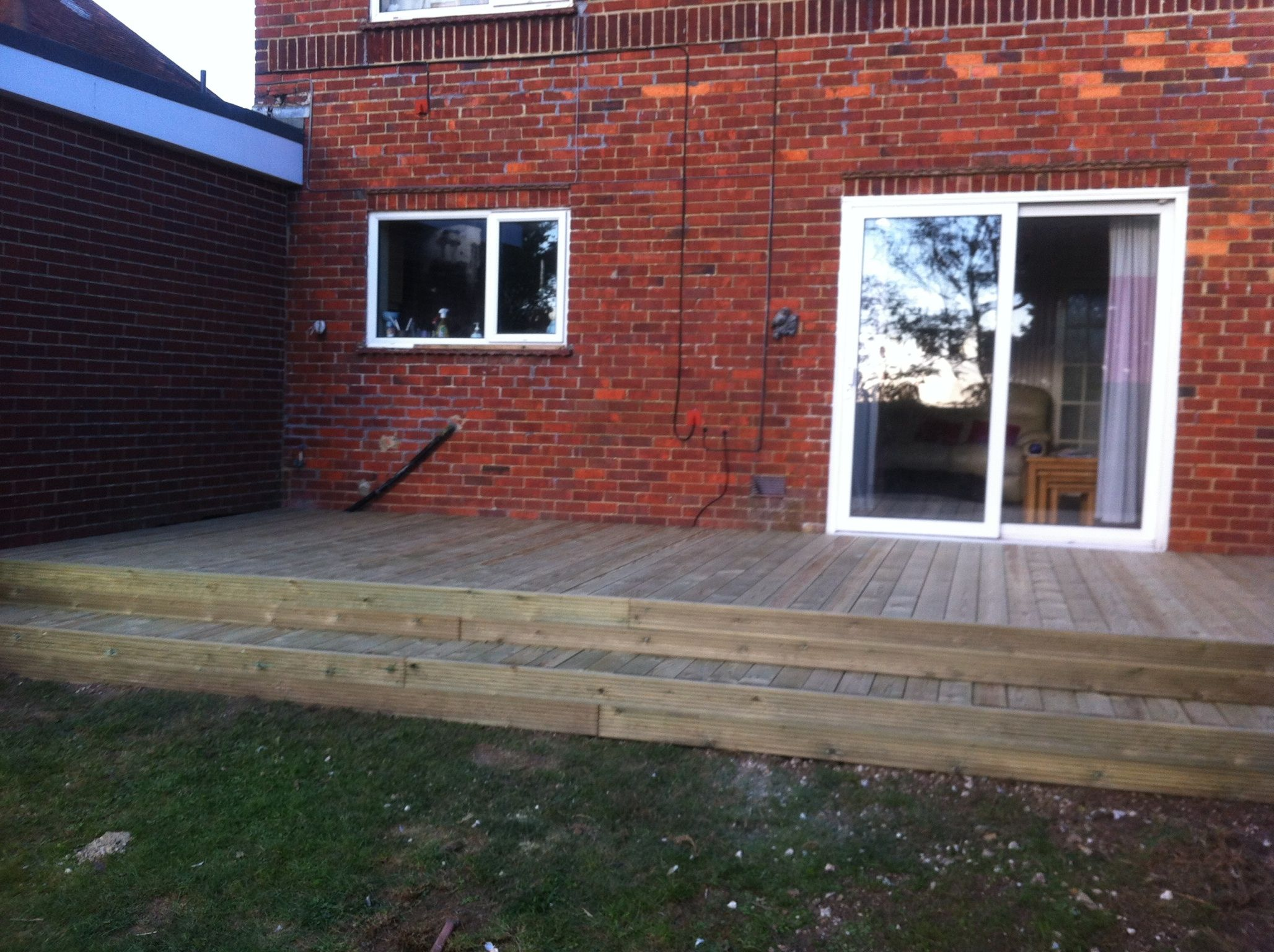 large flat deck with full length step my cute cottage pinterest