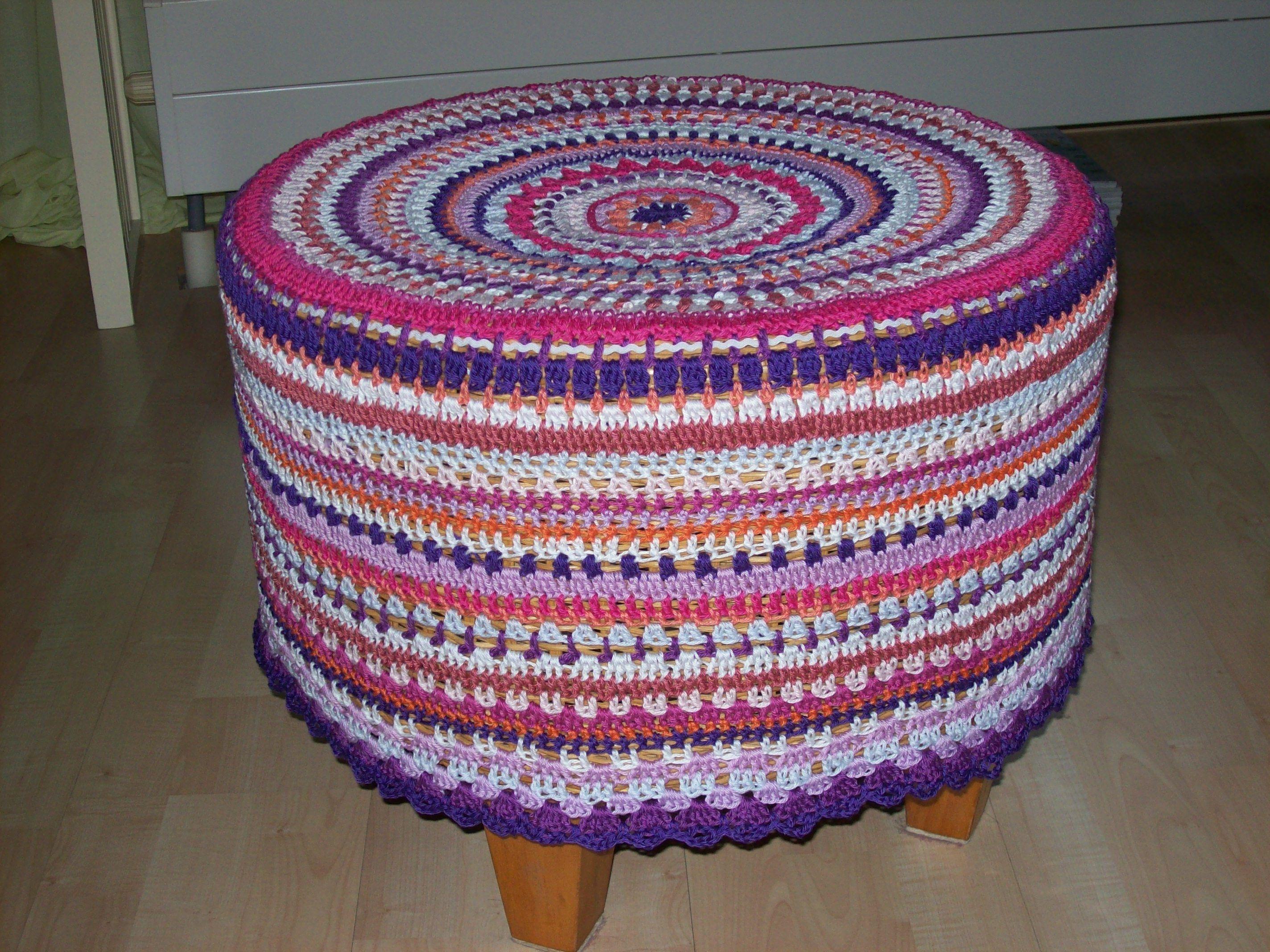 Crochet ottoman Crochet ideas Pinterest