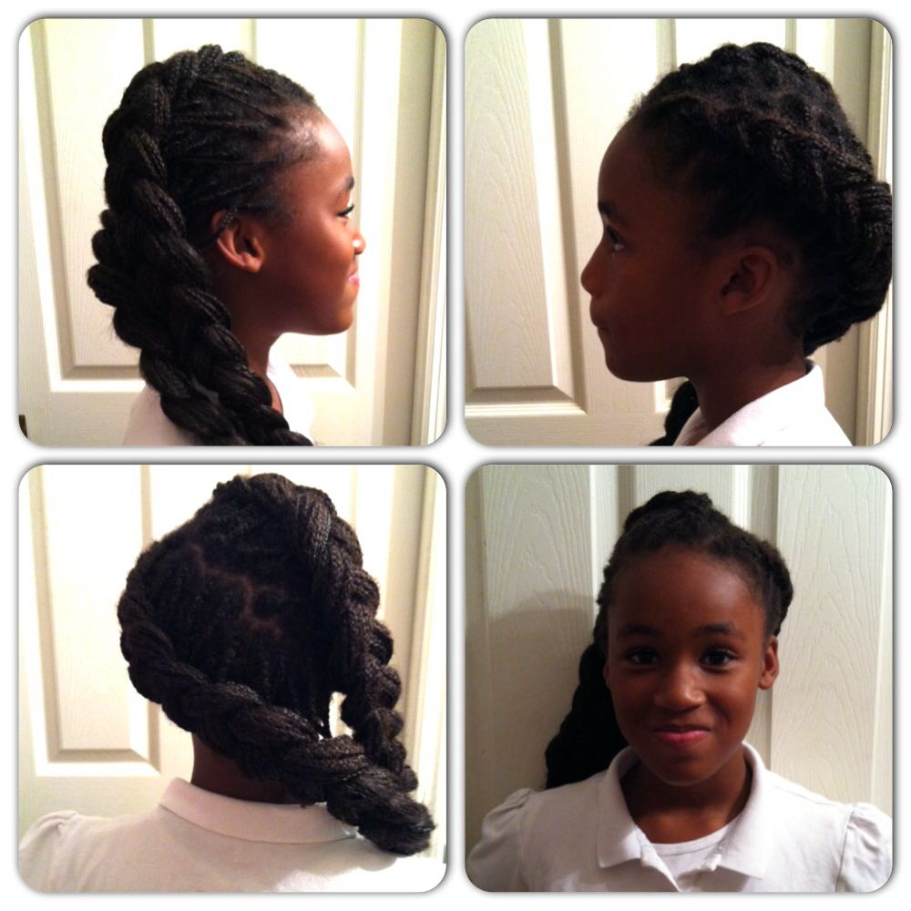 Two French braids to the side | Natural Hair Styles ...
