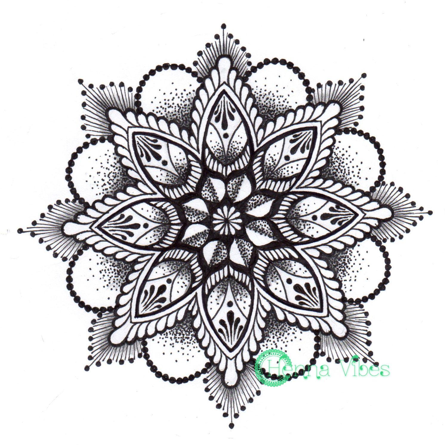 Mandala Tattoo Design On Pinterest: Dotwork Mandala By Mish At Henna Vibes