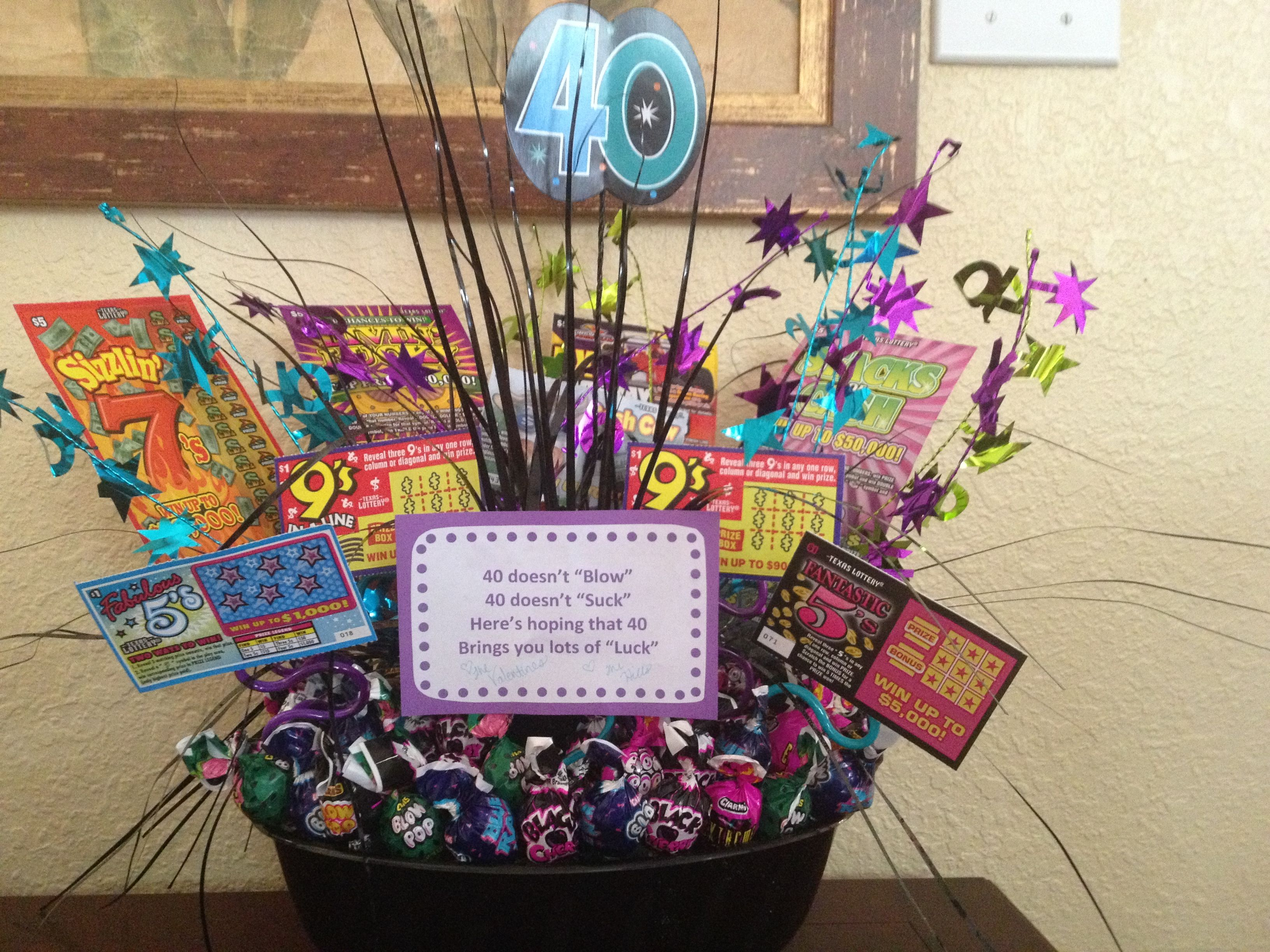 40th Birthday Gift Basket Ideas For Her Th Kent