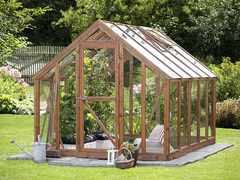 Small Wooden Greenhouse Gardening Pinterest