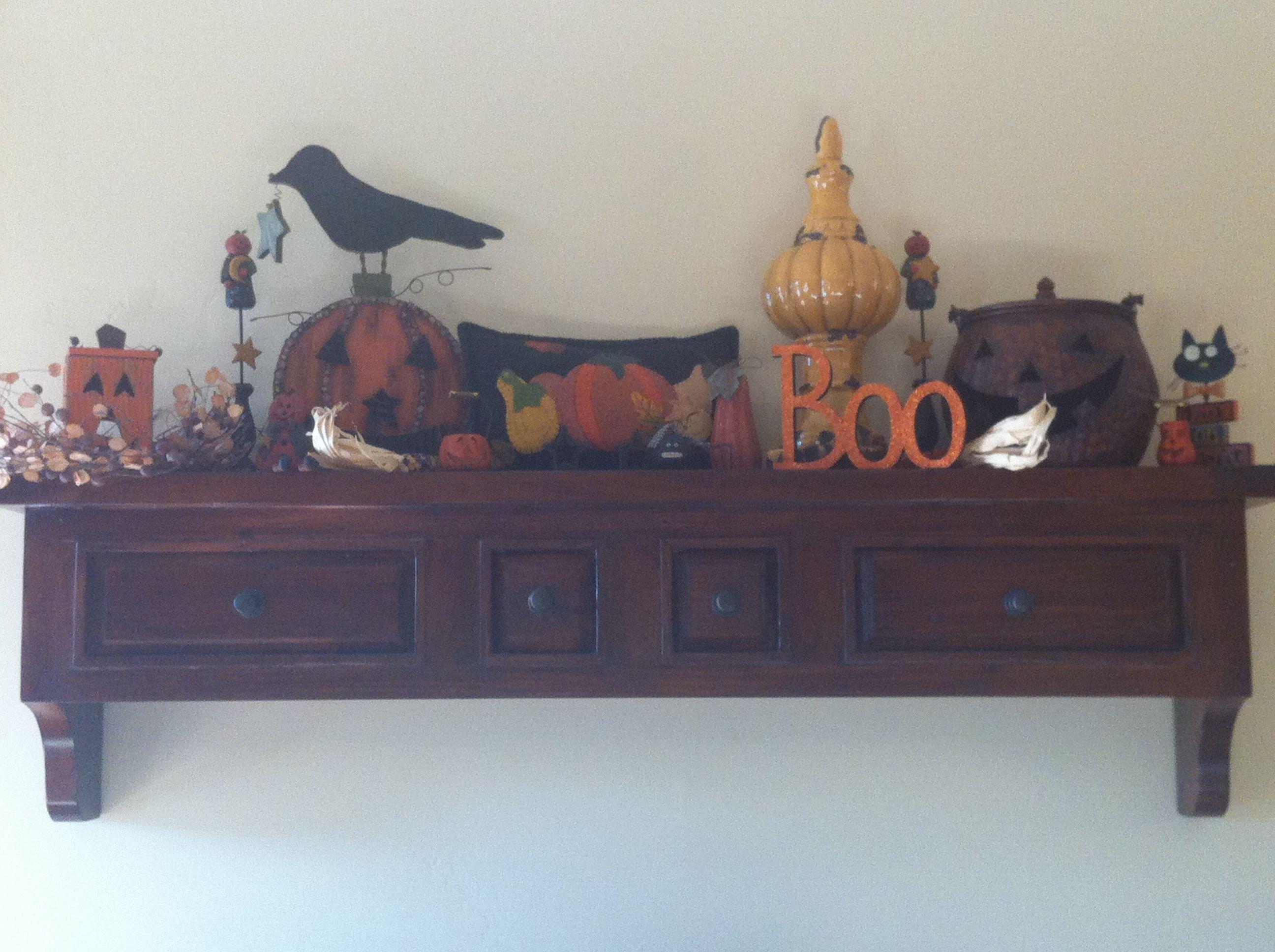 Cute Decorating Idea For Halloween Shelf Holidays