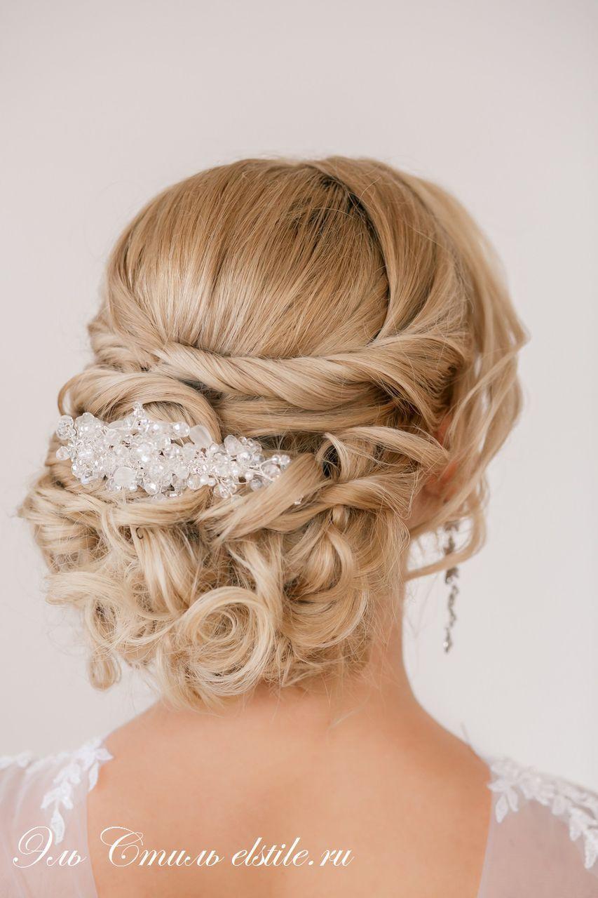 Причёски собранные сзади свадебные