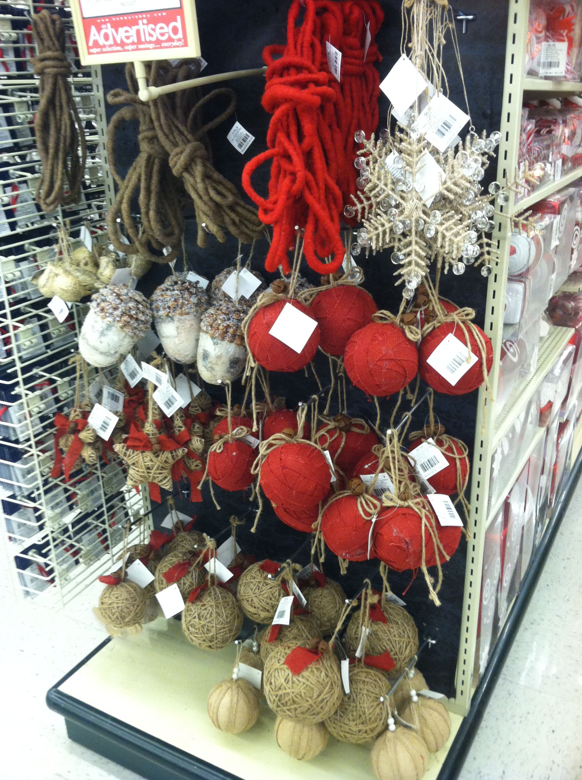 Hobby Lobby burlap Christmas ornaments   Hobby lobby ...