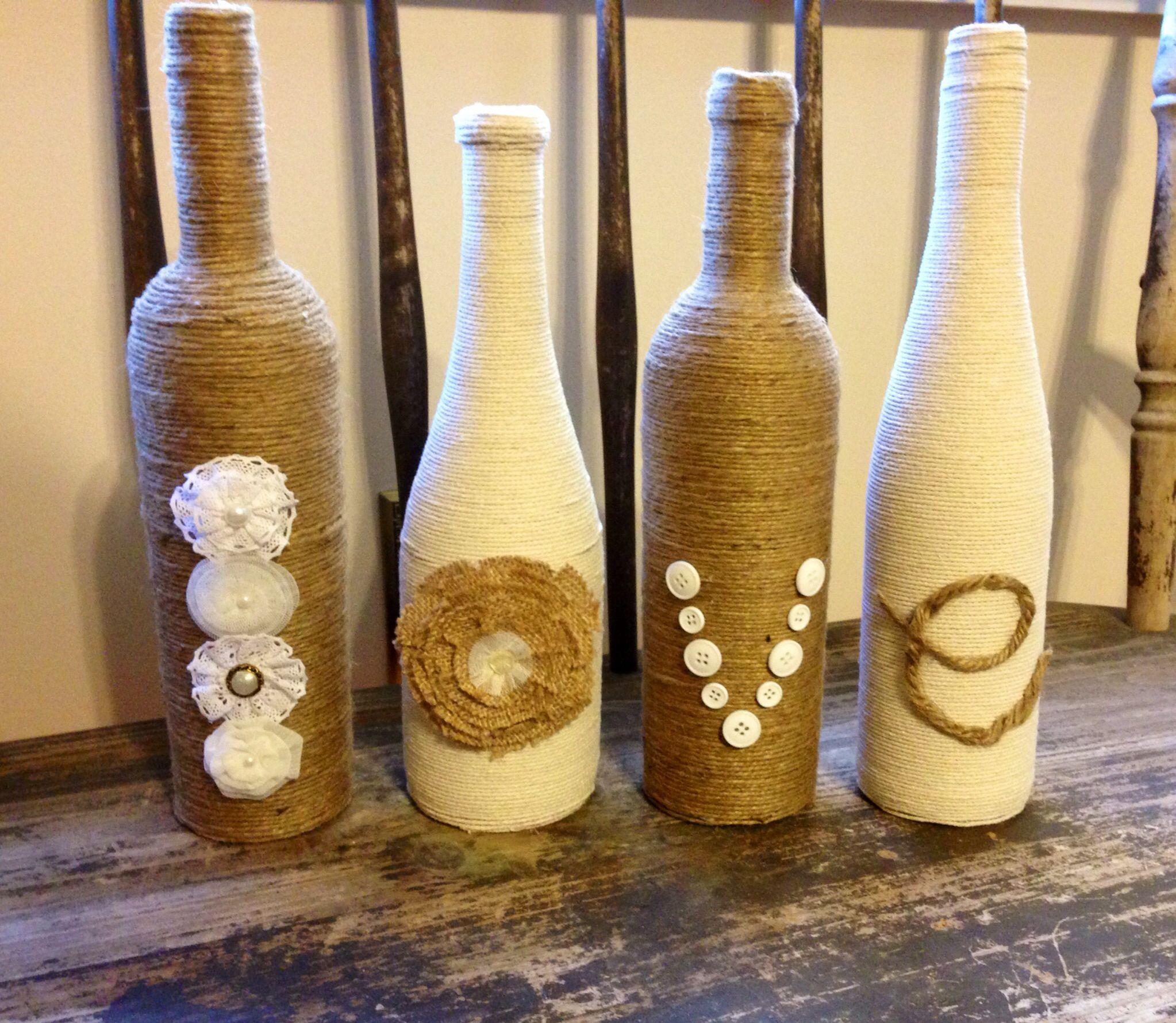 Wine Bottle Designs : Wine bottle decor  love  Pinterest