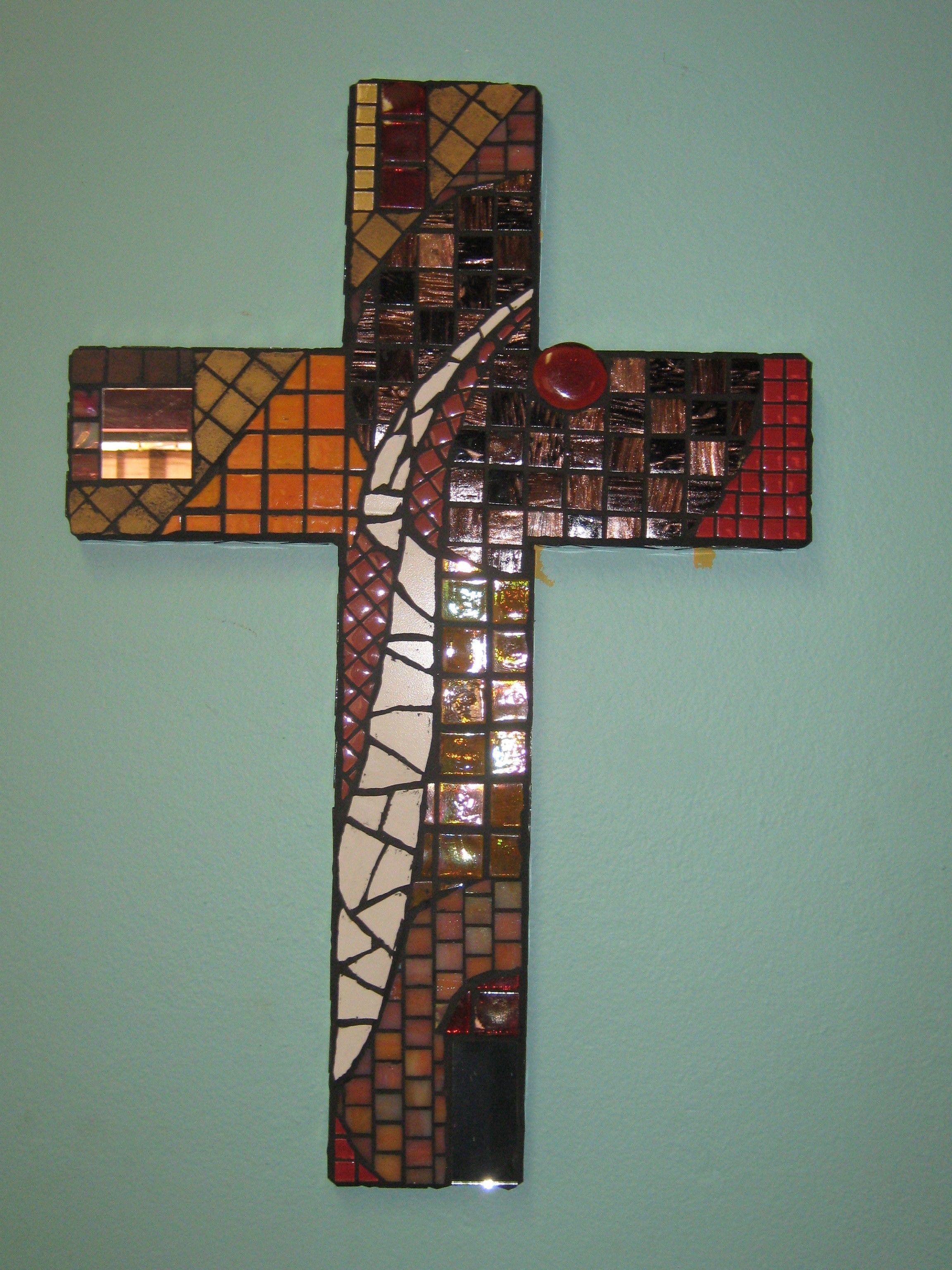 Mosaic Cross Cool Mosaic Ideas Pinterest