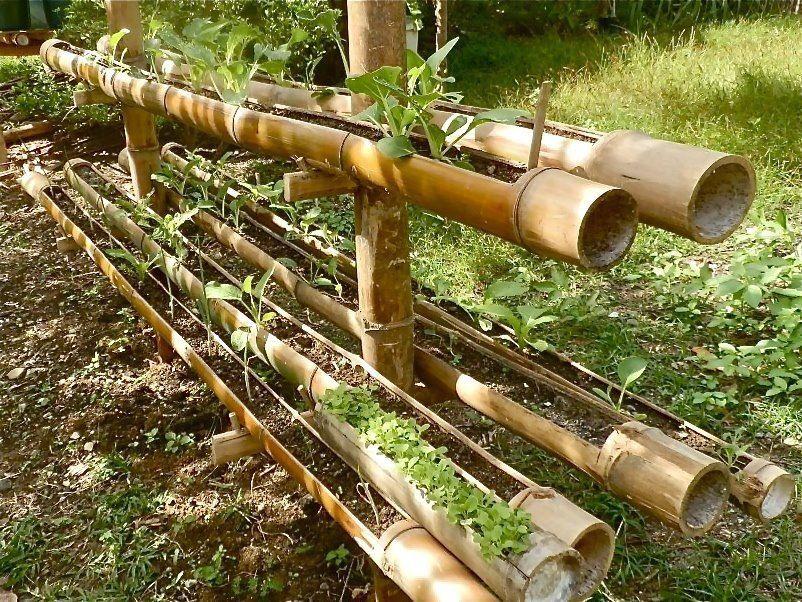bamboo riser planter garden ideas pinterest