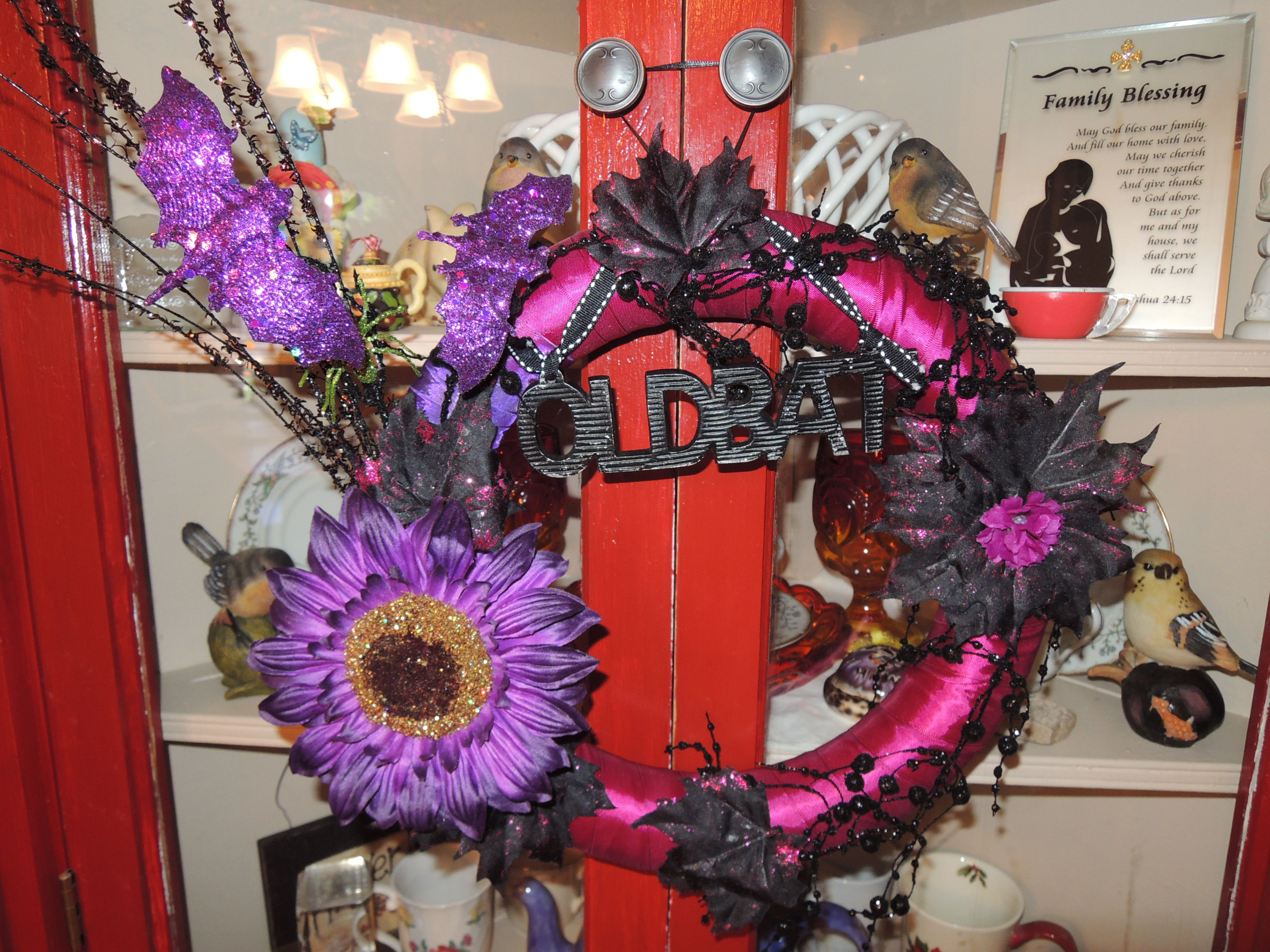 Halloween wreath  Halloween decorations  Pinterest