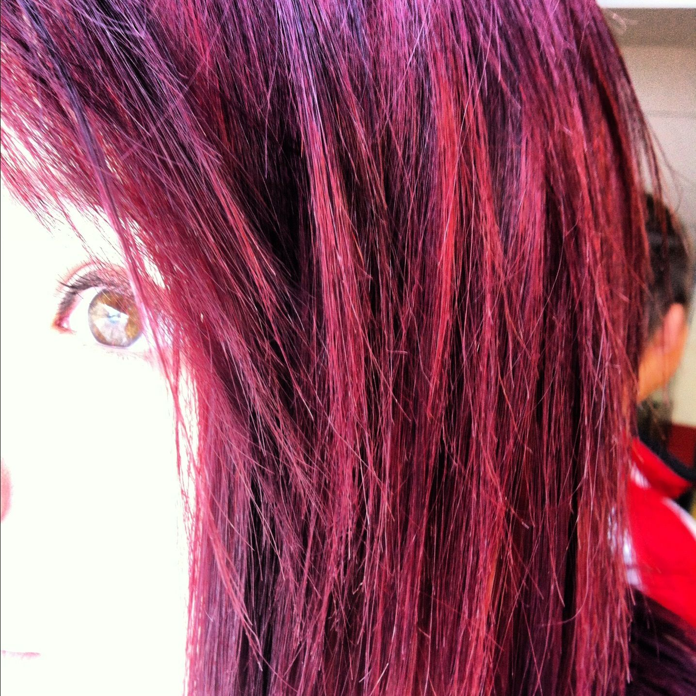 Cherry Red Hair Color  Dark Brown Hairs