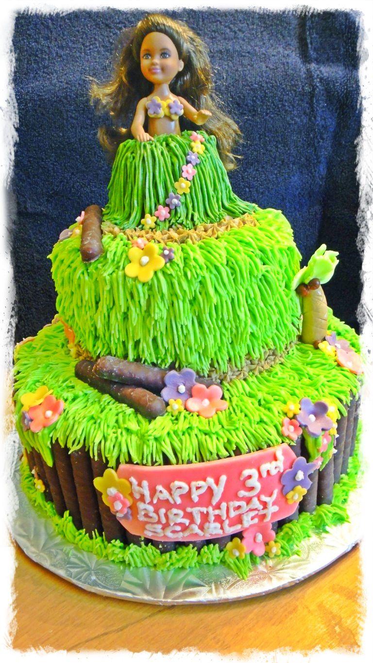 Hula Girl Cake Design : Hula girl cake Girl Birthday Cake Pinterest