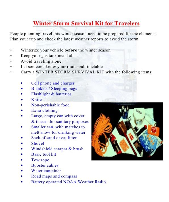 Winter safety kit for your car tips tricks amp good ideas pintere