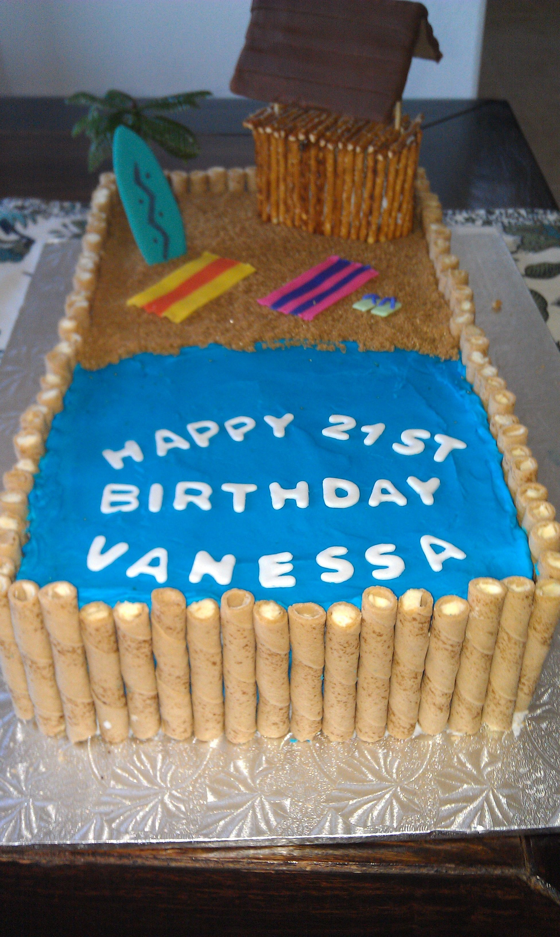Birthday Cake Ideas Beach : Beach Birthday Cake Party Ideas Pinterest
