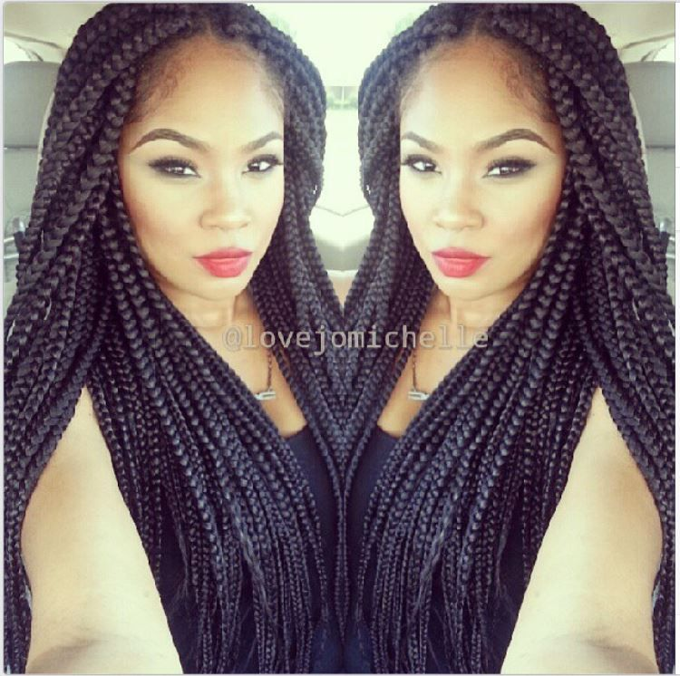 Box Braids Natural/Protective STYLES Pinterest