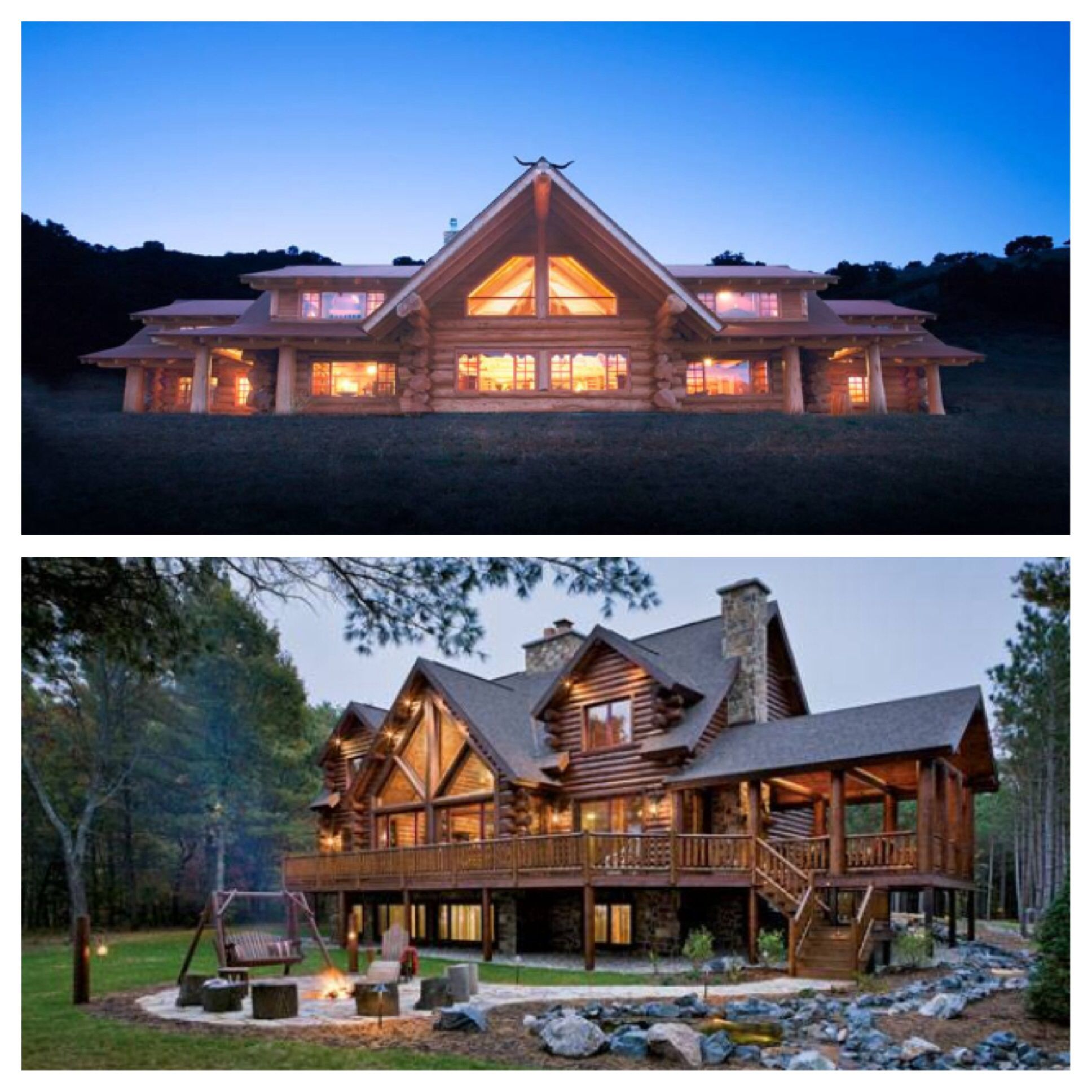 Some beautiful dream log cabin homes dream home pinterest for Dream house builders