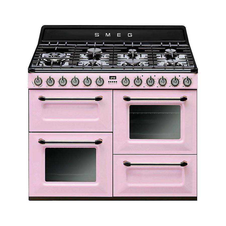 smeg tr4110 dual fuel range cooker preferably pink. Black Bedroom Furniture Sets. Home Design Ideas