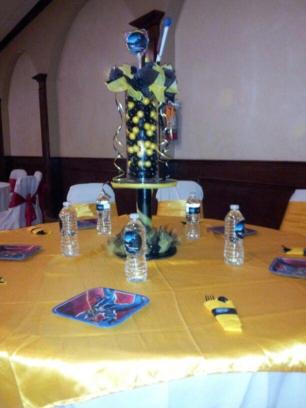 Centros de mesa batman decoraciones de batman pinterest - Decoraciones de salones ...