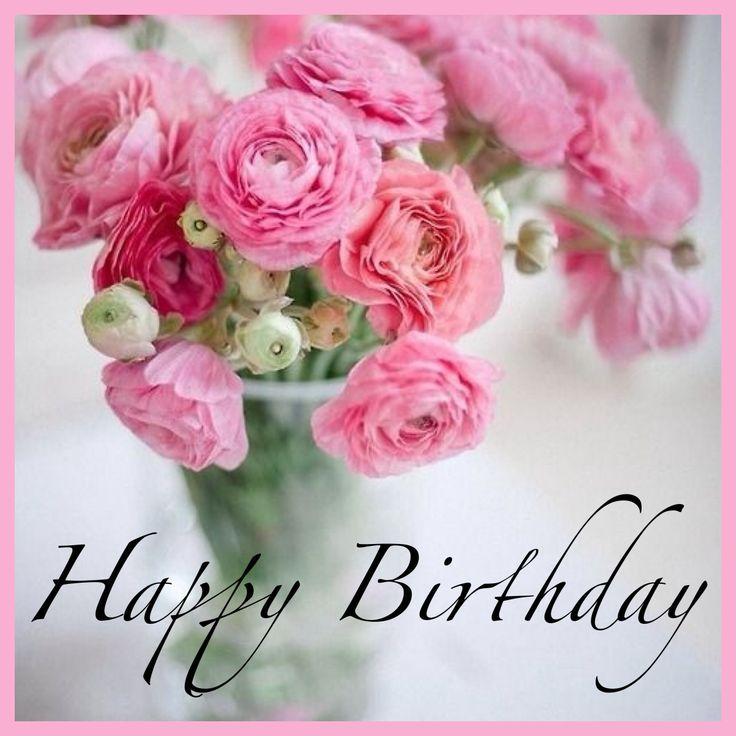 Открытки happy birthday женщине красивые английские с цветами
