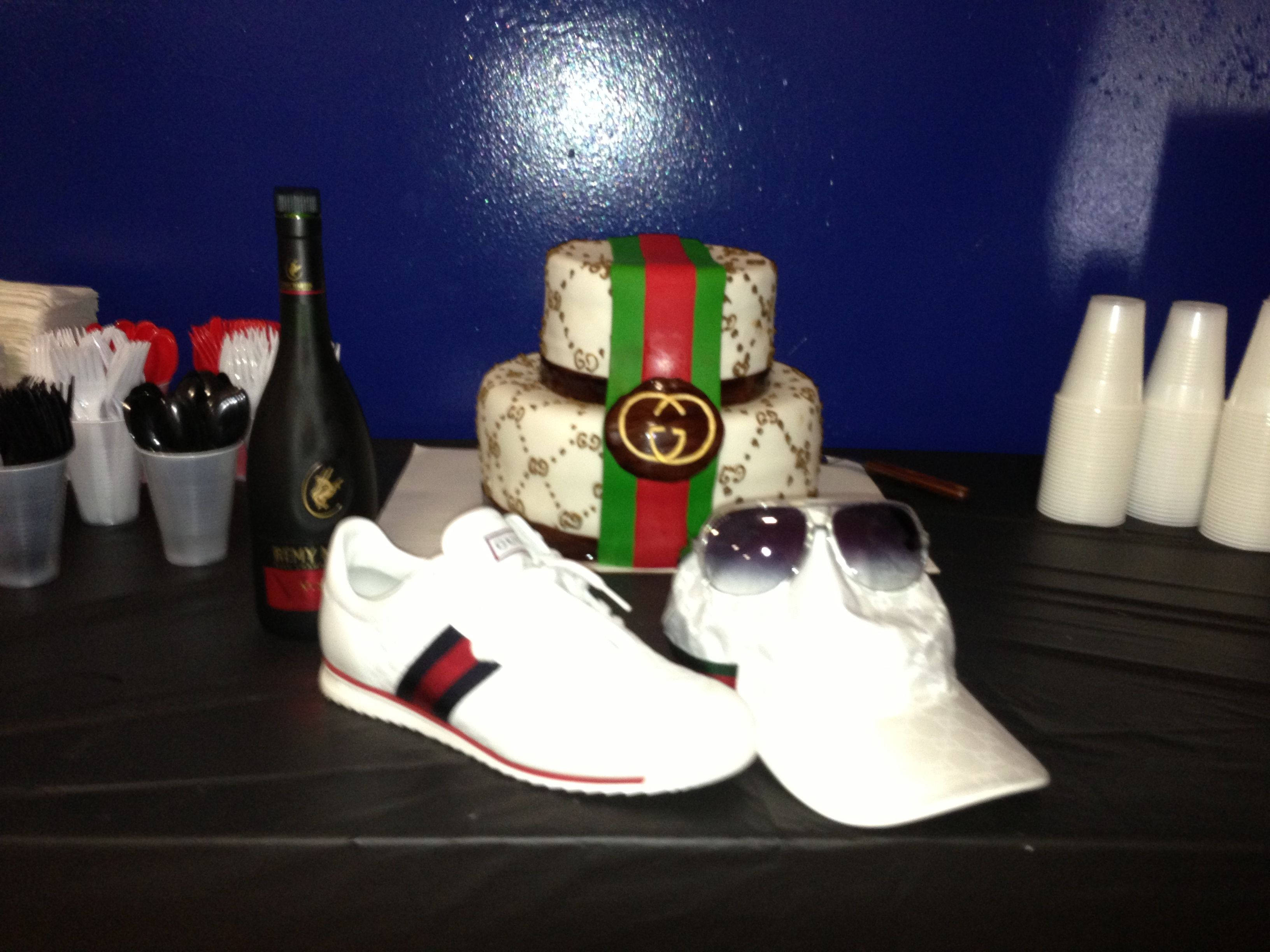 Birthday Cake Ideas For My Husband : Gucci cake for my husband birthday Party ideas Pinterest