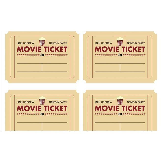 Editable Movie Ticket Template Free Printable Editable Blank – Free Printable Movie Ticket Template