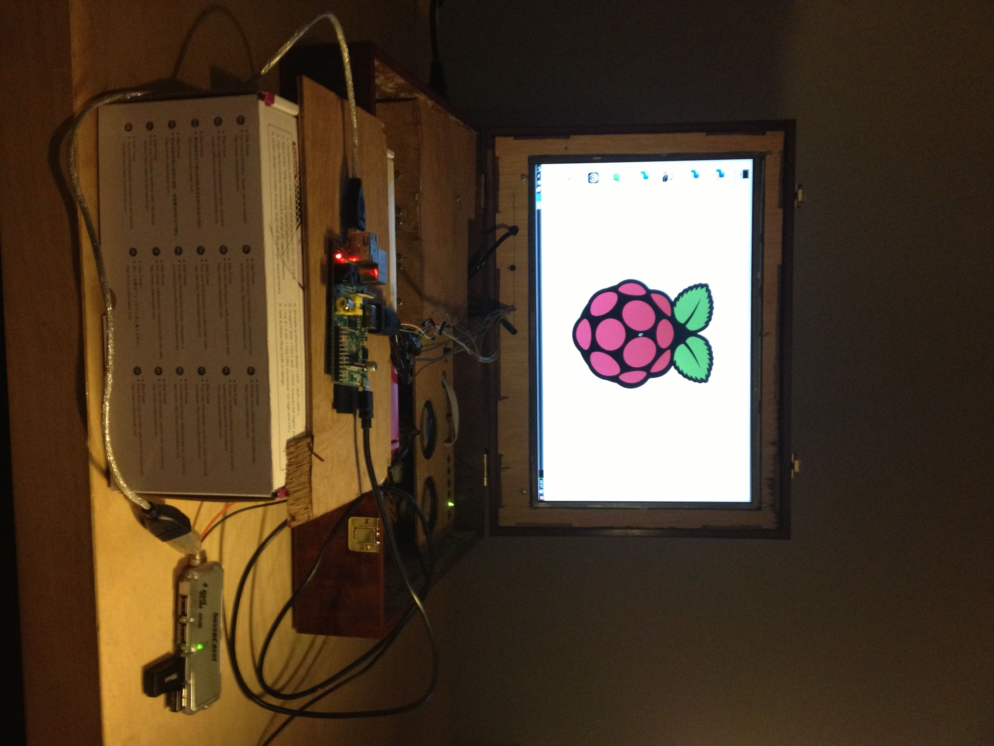 Test opstelling Raspberry pi Laptop