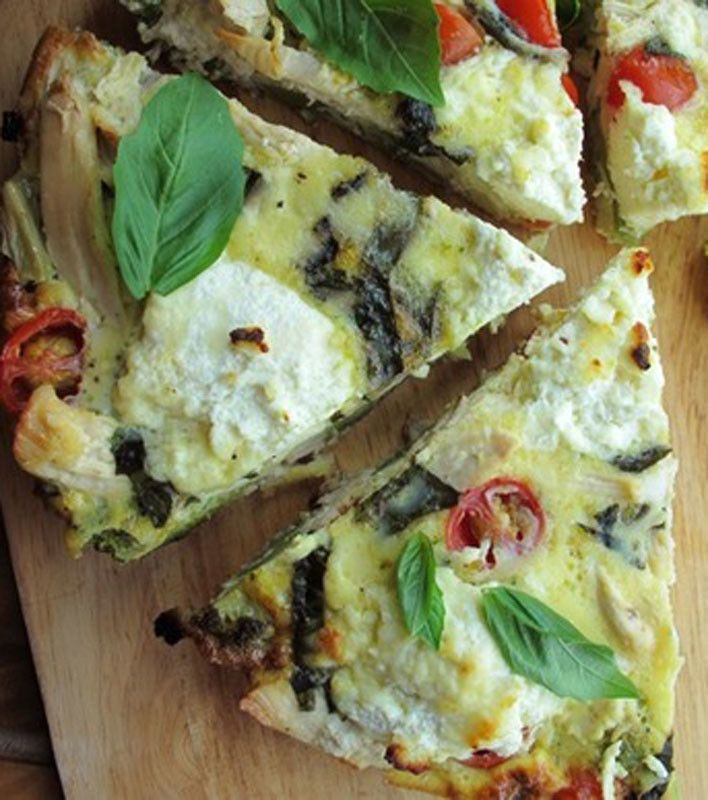Chicken, Vegetable, and Ricotta Frittata | Foodie | Pinterest